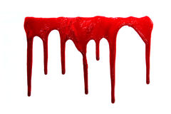 Grupo 8 manchas de sangue no fundo branco isolado Imagem de Stock Royalty Free