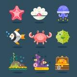 Grupo marinho do ícone Fotos de Stock