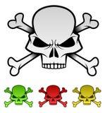 Grupo mau da ilustração dos crânios Fotos de Stock Royalty Free