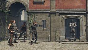 Grupo medieval da rua da fantasia Foto de Stock