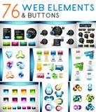 Grupo mega de elementos da Web do vetor Fotografia de Stock