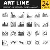 Grupo mega de gráficos do projeto do negócio 3D ilustração royalty free