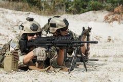 Grupo metralhadora das guardas florestais do exército dos EUA Imagens de Stock