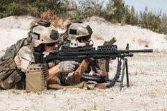 Grupo metralhadora das guardas florestais do exército dos EUA Fotos de Stock Royalty Free