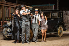 Grupo mezclado de gángsteres Imagenes de archivo