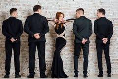 Grupo mezclado de hombres y de mujer de negocios Imagen de archivo