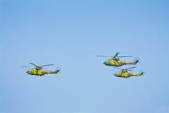 Grupo militar de los helicópteros Fotografía de archivo