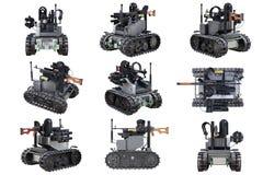 Grupo militar do tanque do robô Fotografia de Stock