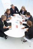 Grupo misturado na reunião de negócio Fotos de Stock Royalty Free