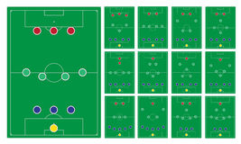 Grupo moderno comum da formação do futebol Imagem de Stock