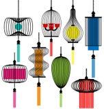 Grupo moderno da lâmpada Imagens de Stock Royalty Free