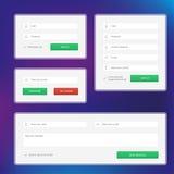 Grupo moderno de formulários da Web Imagens de Stock