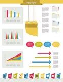 Grupo moderno de Infographics Foto de Stock Royalty Free