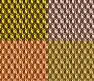Grupo moderno simples sem emenda geométrico da textura do modelo-grupo do vetor de quatro cores ilustração stock