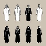 Grupo muçulmano tradicional do ícone dos povos Foto de Stock