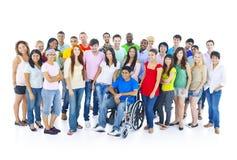 Grupo multiétnico colorido de estudiante Foto de archivo libre de regalías