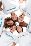 Grupo multi-étnico de voluntários fotografia de stock royalty free