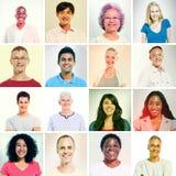 Grupo multi-ethnics en estilo de la sepia Fotografía de archivo libre de regalías