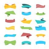 Grupo multicolorido de fitas e de etiquetas no vetor Fotos de Stock Royalty Free