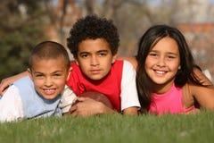Grupo Multiracial de miúdos Fotografia de Stock