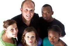 Grupo multiracial novo Fotos de Stock Royalty Free
