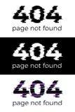 grupo não encontrado do conceito de 404 páginas Elementos do projeto do vetor Fotos de Stock Royalty Free