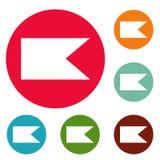 Grupo novo do círculo dos ícones da bandeira Imagens de Stock