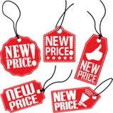 Grupo novo do preço, ilustração do vetor Fotografia de Stock Royalty Free