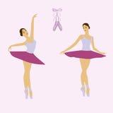 Grupo novo do vetor da dança da bailarina Fotografia de Stock Royalty Free