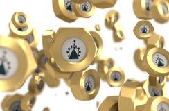 Grupo Nuts de la levitación ilustración del vector