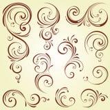 Grupo ornamentado do redemoinho Imagens de Stock