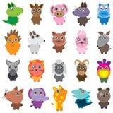 Grupo pequeno animal ilustração stock