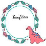 Grupo pequeno de Dino ilustração royalty free
