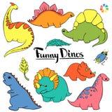 Grupo pequeno de Dino ilustração stock