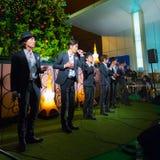 Grupo permanente dos vocals dos peixes no Tóquio Fotografia de Stock