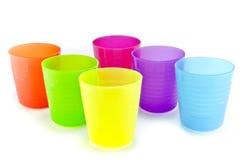 Grupo plástico do copo foto de stock royalty free