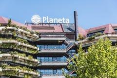 Grupo Planeta högkvarter, Barcelona Arkivbild