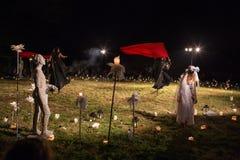 Grupo polaco. QUESO FETA y Teatr Poza Tym de Teatr en espectáculo Fotografía de archivo