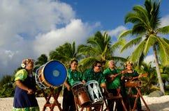 Grupo polinésio da música de Tahitian da ilha do Pacífico Fotografia de Stock Royalty Free