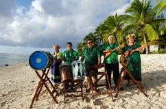 Grupo polinésio da música de Tahitian da ilha do Pacífico Fotografia de Stock