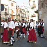 Grupo popular siciliano de Polizzi Generosa Imagem de Stock