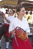 Grupo popular siciliano de Polizzi Generosa Imagens de Stock Royalty Free