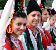 Grupo popular tradicional de Bulgária Fotografia de Stock Royalty Free