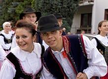 Grupo popular tradicional de Poland Imagem de Stock