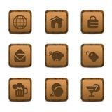 Grupo pré-histórico do ícone imagens de stock royalty free