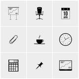 Grupo preto e branco de ícones Imagem de Stock