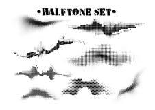 Grupo preto e branco de intervalo mínimo dos testes padrões da onda sadia Elementos do projeto da música da tecnologia isolados n imagens de stock