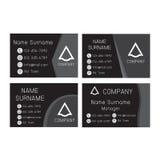 Grupo preto e cinzento do cartão Imagens de Stock Royalty Free