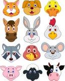 Grupo principal animal dos desenhos animados Fotos de Stock