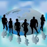 Grupo principal del mundo stock de ilustración